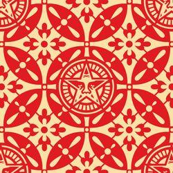 Shepard Fairey, Japanese Pattern 2 Red