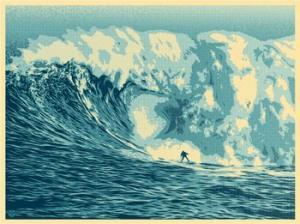 Shepard Fairey, Jaws Wave Print
