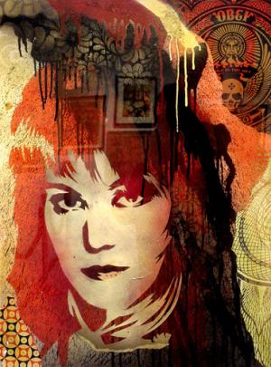 Shepard Fairey, Joan Jett Retired Stencil on Paper