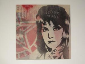 Shepard Fairey, Joan Jett Stencil on Album Cover