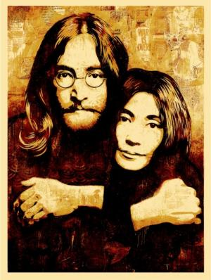John & Yoko Canvas Print