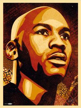 Shepard Fairey, Jordan Hall of Fame Portrait (Master)