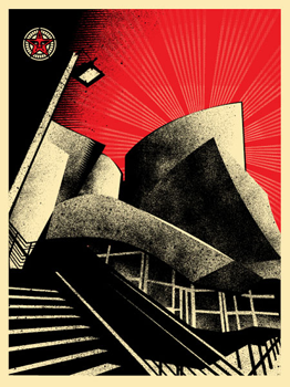 Shepard Fairey, LA Philharmonic Hall