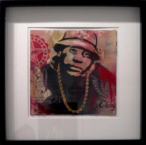 Shepard Fairey, LL Cool J Stencil Collage on Album Cover