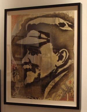 Shepard Fairey, Lenin Retired Stencil on Paper