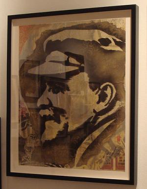 Shepard Fairey, Lenin Retired Stencil on Paper