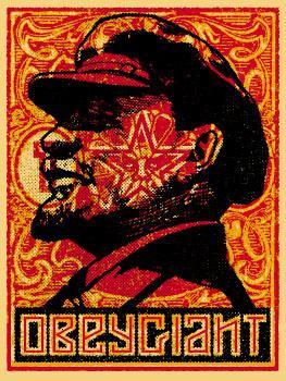 Shepard Fairey, Lenin Stamp Poster
