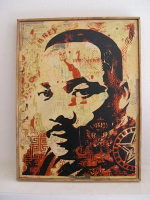 Shepard Fairey, MLK Jr. HPM on Wood