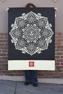 Mandala Ornament 1 (Black Large)