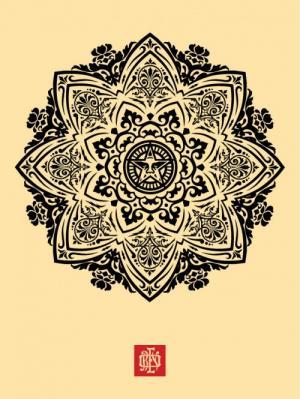 Mandala Ornament 1 Cream