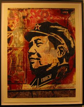 Shepard Fairey, Mao Collage HPM on Paper