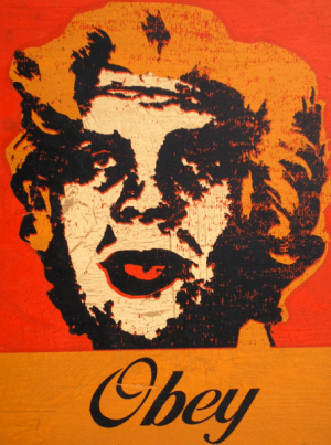 Shepard Fairey, Marilyn Warhol on Wood