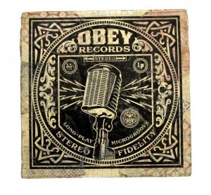 Shepard Fairey, Microgroove (microphone) Album Cover HPM