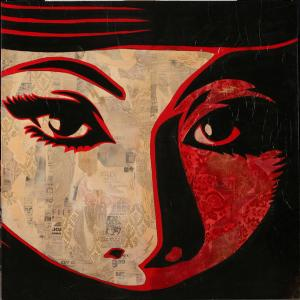 Shepard Fairey, Mujer Fatal Large Canvas