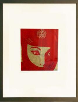 Shepard Fairey, Mujer Fatal Rubylith Small