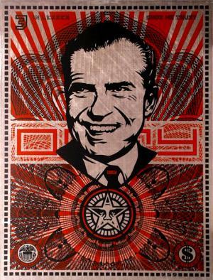 Shepard Fairey, Nixon Money on Metal