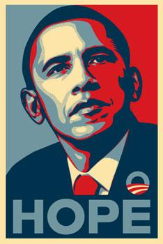 Shepard Fairey, Obama Hope Signed Paster