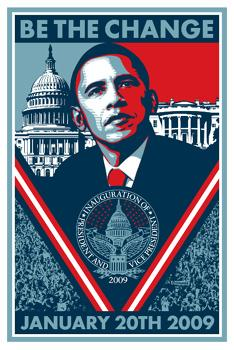 Shepard Fairey, Obama Be the Change Unsigned 