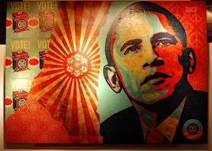 Shepard Fairey, Obama Manifest Hope Installation