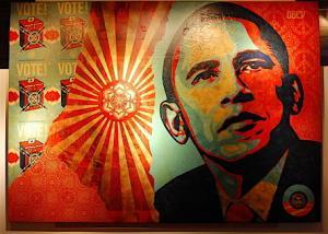 Shepard Fairey, Obama Manifest Hope Installation