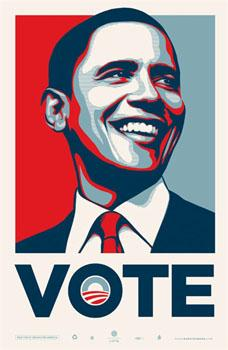 Shepard Fairey, Obama Vote