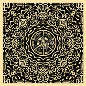 Shepard Fairey, Ornate Pattern Black