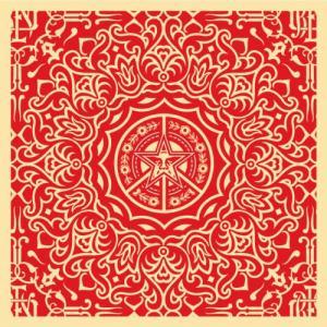 Shepard Fairey, Ornate Pattern Red