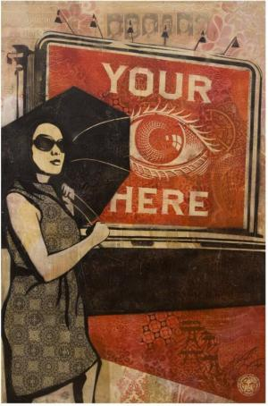 Shepard Fairey, Obey Billboard (Eye) Canvas Unique