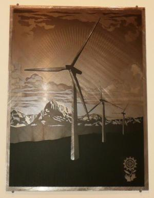 Shepard Fairey, Obey Windmill on Metal