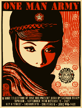 Shepard Fairey, One Man Army Show Paster