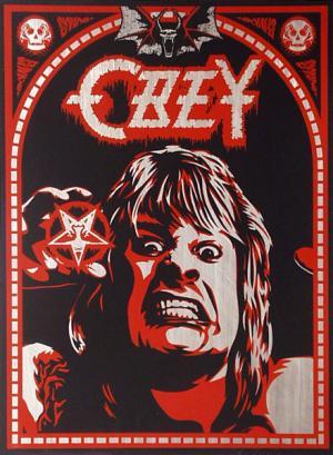 Shepard Fairey, Ozzy on Metal