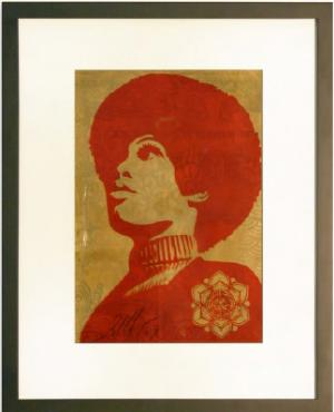 Shepard Fairey,  Panther Power Rubylith