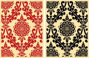 Parlor Pattern Cream Set