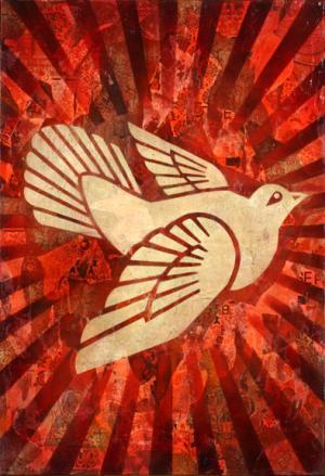 Shepard Fairey, Peace Dove Canvas