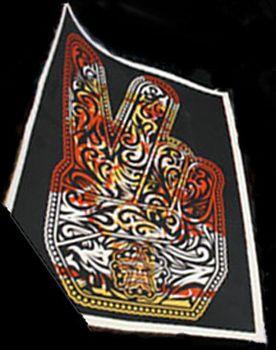 Shepard Fairey, Peace Fingers Test Print 2