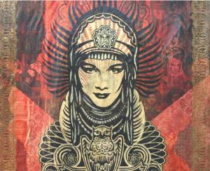 Shepard Fairey, Peace Goddess Mural Canvas