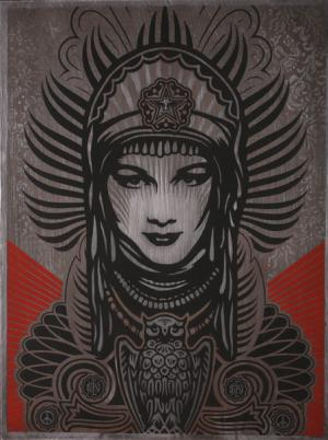Shepard Fairey, Peace Goddess on Metal