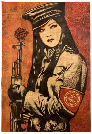 Shepard Fairey, Peace Guard Canvas