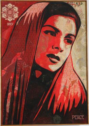 Shepard Fairey, Peace Mujer Canvas Unique