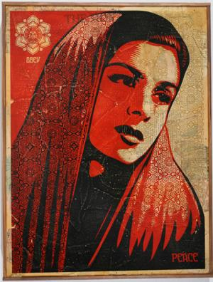 Shepard Fairey, Peace Mujer HPM on Wood