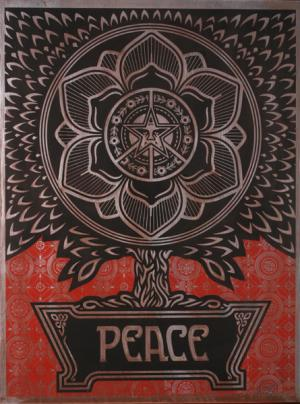 Shepard Fairey, Peace Tree on Metal