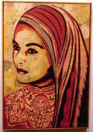 Shepard Fairey, Peace Woman Canvas