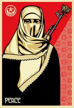 Shepard Fairey, Muslim Woman (ICA Edition)