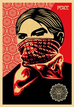 Shepard Fairey, Zapatista Woman (ICA Edition)