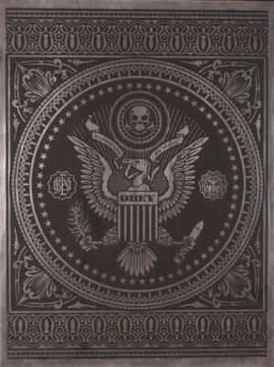 Shepard Fairey, Presidential Seal on Metal