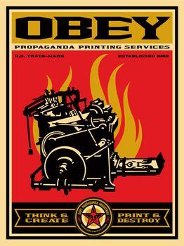 Shepard Fairey, Print and Destroy (20th Anniversary Edition)