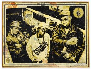 Shepard Fairey, Public Enemy HPM on Wood