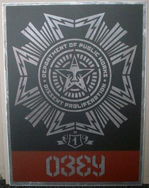 Shepard Fairey, Public Works Medal on Metal