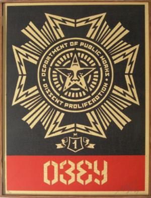 Shepard Fairey, Public Works Medal on Wood