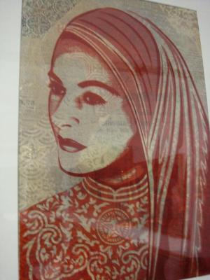 Shepard Fairey, Peace Woman Rubylith
